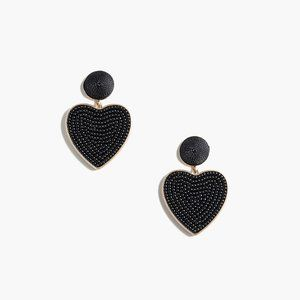 🆕 NWT 🖤 J. Crew Beaded heart drop earrings